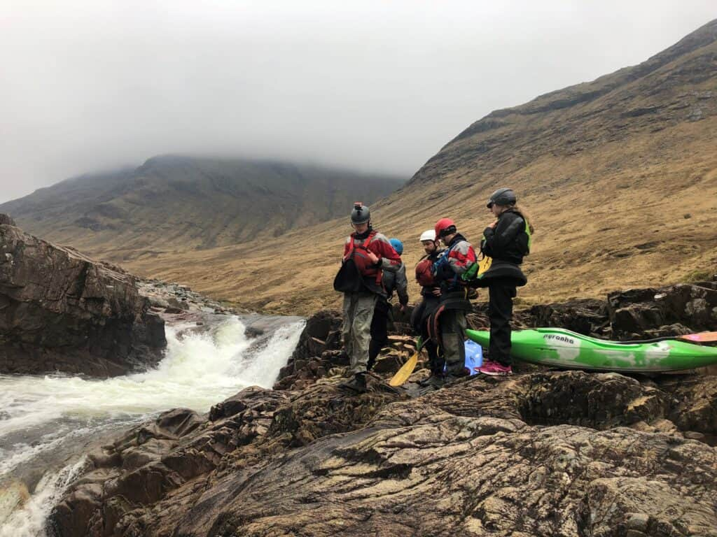 white water kayaking trips on the river Etive